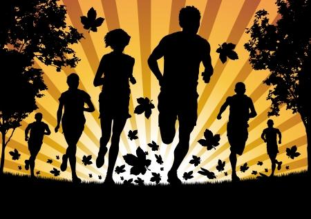 Autumn Runners Vector