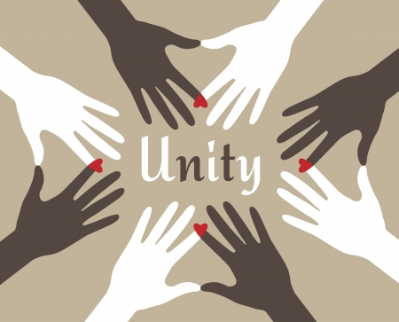 racismo: Manos abstractas Unity