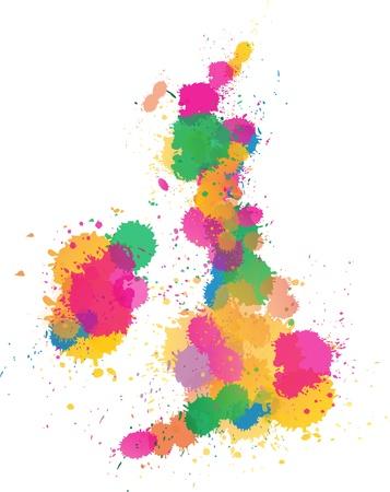 United Kingdom Paint splattered Vector
