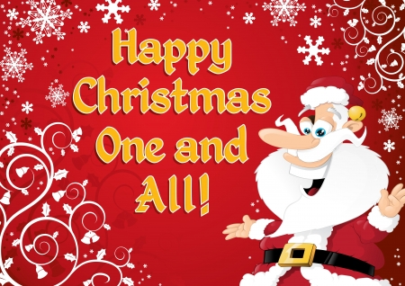Cartoon Santa Postcard Stock Vector - 16272080