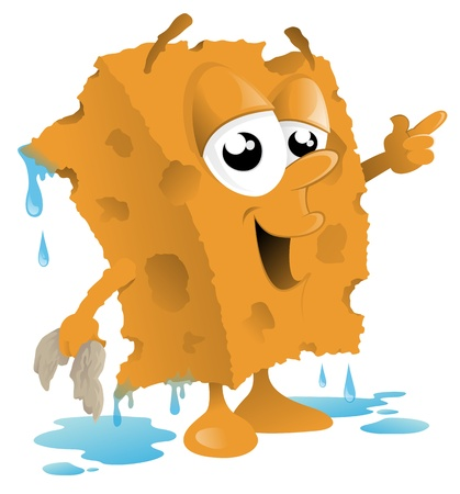 Cartoon Sponge Car Wash