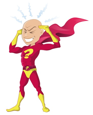 Psychic Superhero Illustration