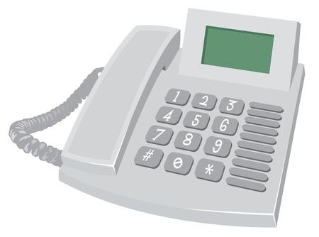 office objects: Desk Phone Illustration