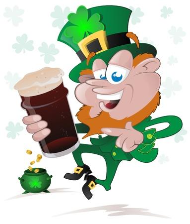 Happy St  Patrick s Day Leprechaun Stock Vector - 17972301