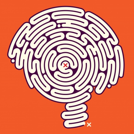 Amazing Brain Maze  Stock Vector - 18303094