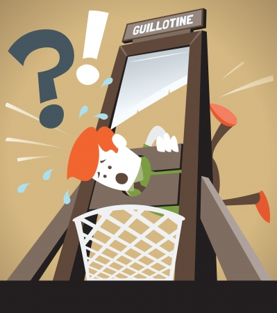guillotine: Corporate Guy gets the Chop Illustration