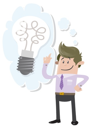 Business Buddy has a bright idea Stock Vector - 18561270