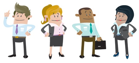 Business Buddies ready for work Illustration