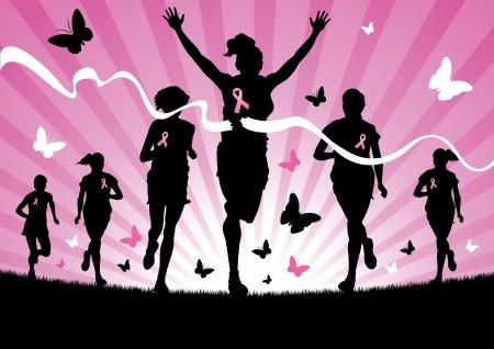 cancer woman: Women Running