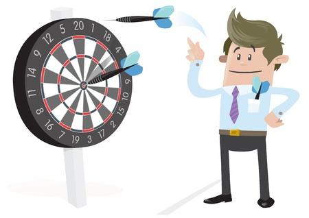 bullseye: Business Buddy trifft ein Bullseye Illustration