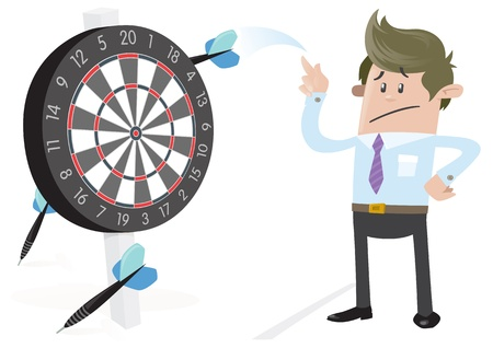 failure sign: Business Buddy misses the Target  Illustration