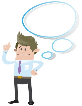 Business Buddy with Thought Bubble Stock Vector - 18818356