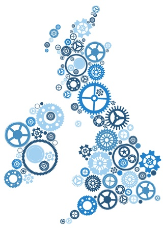 United Kingdom of Cogs Vector