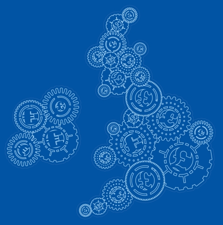 UK and Ireland Money Cogs Stock Vector - 18957202