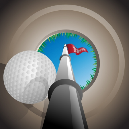 driving range: Hole in One  Illustration