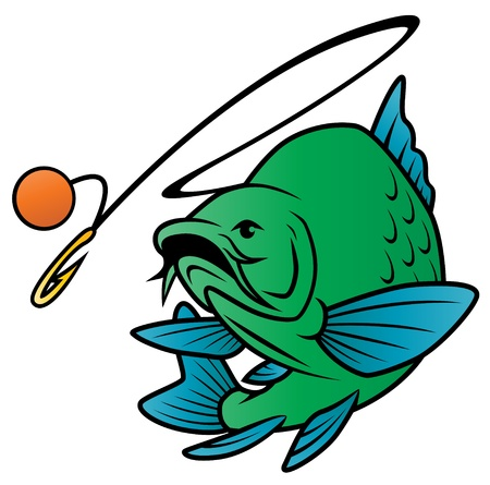 Fish Chases Bait Vector