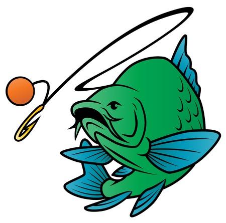 bass fishing: Fish Chases Bait