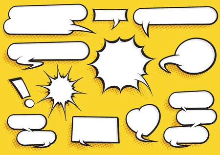 Comic Speech Bubble Set Stock Vector - 19692174
