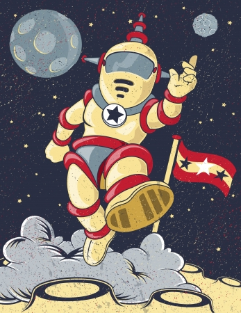 Retro Spaceman  Vector
