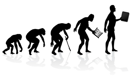 Evolution of Man and Technology Stock Vector - 20301590