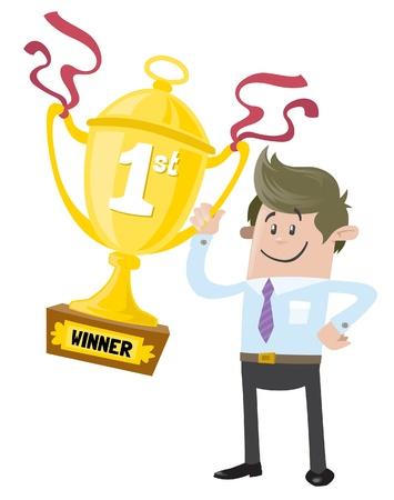 primer premio: Negocio de Amigos gana un trofeo Primer Premio