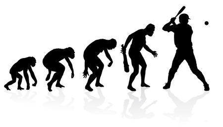 origen animal: Evolución de un jugador de béisbol