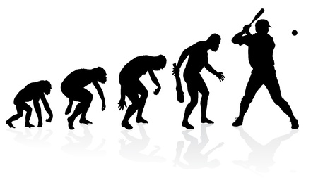 Evolution of a Baseball Player Illustration