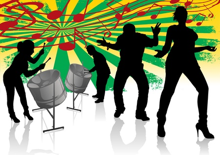 reggae: Steel Drum Calypso Street Party