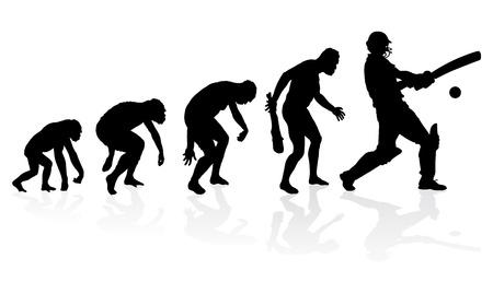 Evolutie van een cricket-speler