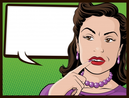 confused person: Comic Style Confused Housewife Illustration