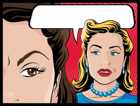 kitsch: Comic Style Gossiping Women
