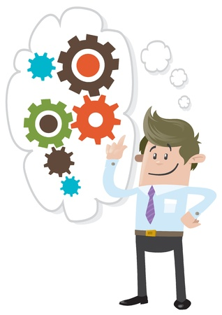 Business Buddy is Thinking Stock Vector - 22023188