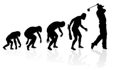 evolucion: Evolución de un jugador de golf