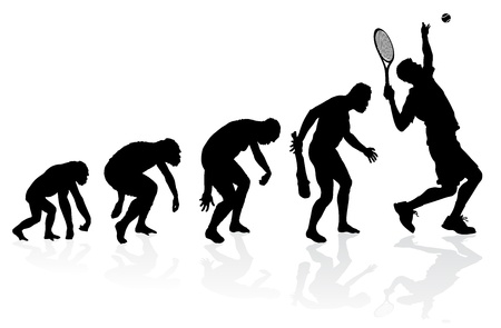 Volution d'un joueur de tennis Banque d'images - 22116507