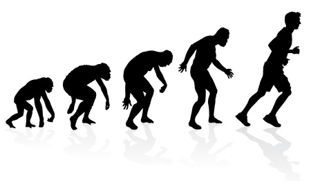 Evolution of the Runner Stock Vector - 22139117