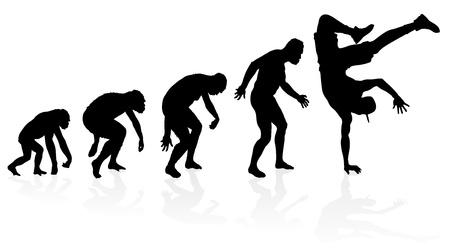 Ewolucja B-boy Dancer Ilustracja