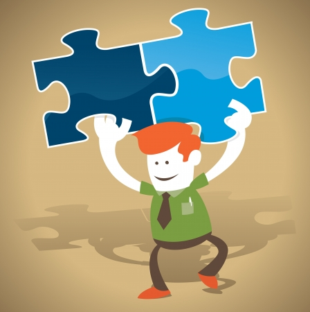 Corporate Guy has the solution to the puzzle Stock Vector - 22145271