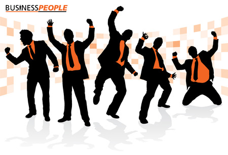 Business People in Successful Poses