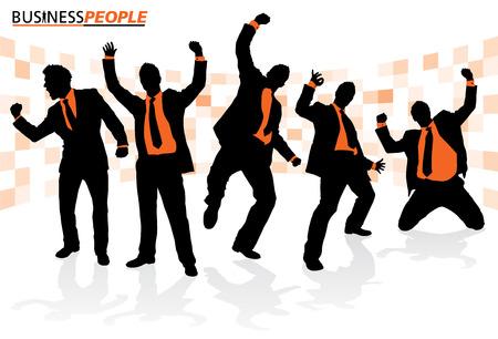 fondo luminoso: Gente de negocios de �xito Poses Vectores