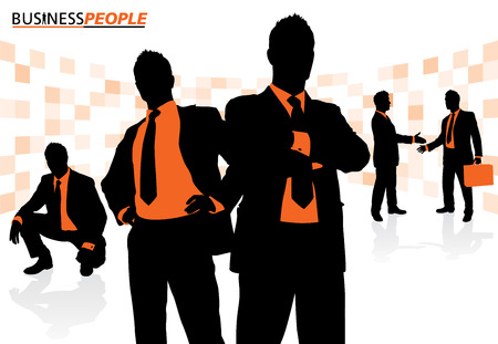 winning team: Business People in a Dynamic Pose