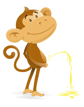 Cheeky Monkey takes the Pee Vector