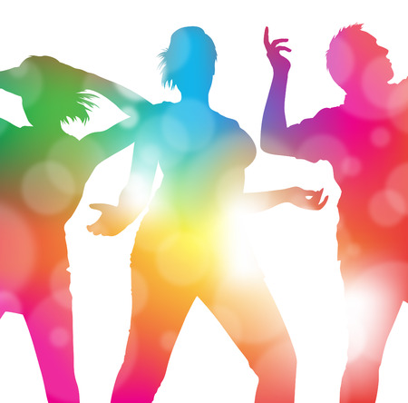 donna che balla: Ballando al Summer Festival Vettoriali
