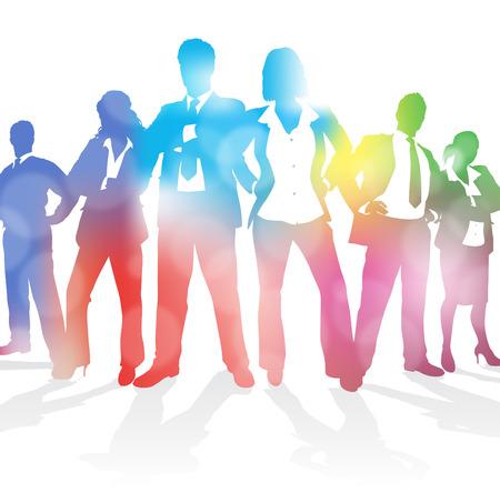 Dynamic Business Team sur un fond abstrait Blur Banque d'images - 22678328