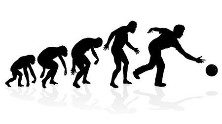bouliste: Evolution du Pin Bowler Ten Illustration