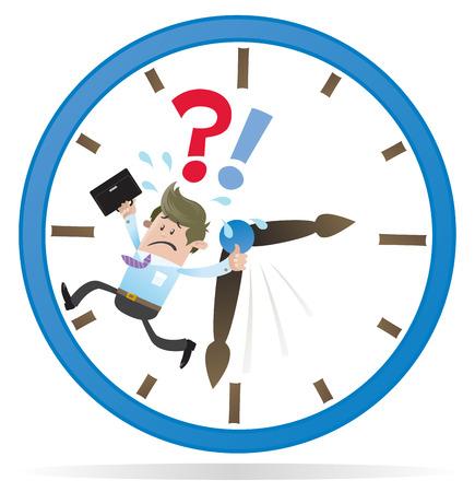 Zakelijke Buddy is Running out of Time Stock Illustratie
