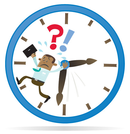 time out: Ethnic Business Buddy is Running out of Time  Illustration