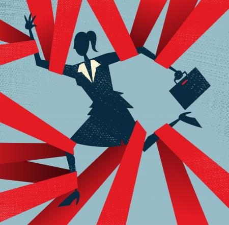 mani legate: Estratto affari catturati in Red Tape