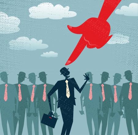 抽象的なビジネスマンがピッキング済と選択  イラスト・ベクター素材