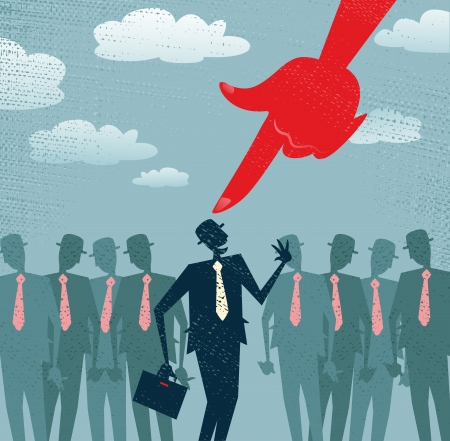 Abstract Businessman is Picked and Selected