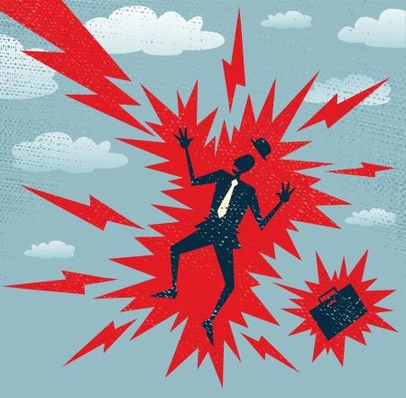 lightening: Resumen de negocios tiene un gran impacto Vectores